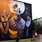 INTI New Mural In Santiago, Chile