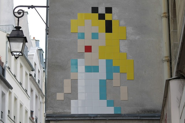 """Alice In Wonderland"", a new invasion by Invader in Paris, France"