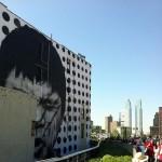 JR New Mural In Progress NYC