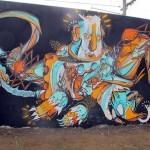 Shida x Knarf New Mural In Tweed Heads, Australia