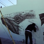 La Pandilla New Mural In Progress, Miami