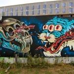 Nychos x DXTR x Gevaer New Mural In Copenhagen, Denmark
