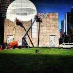 Os Gemeos New Mural In Progress, Boston