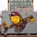 Os Gemeos New Street Art Piece At Luggage Store Gallery In San Francisco, USA
