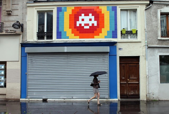 """PA_1174"", a giant invasion by Invader in Paris, France"