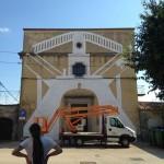 Phlegm New Mural In Progress, Vodnjan, Croatia