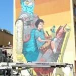 Pixel Pancho New Mural In Progress, Istanbul, Turkey