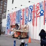 RETNA New Mural In Progress, NYC (Day 2)