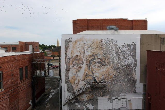 Unexpected '15: Vhils unveils a new mural in Fort Smith, Arkansas