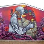 Saner New Mural In Fleury Les Aubrais, France
