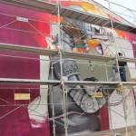 Saner New Mural In Progress, Fleury Les Aubrais, France