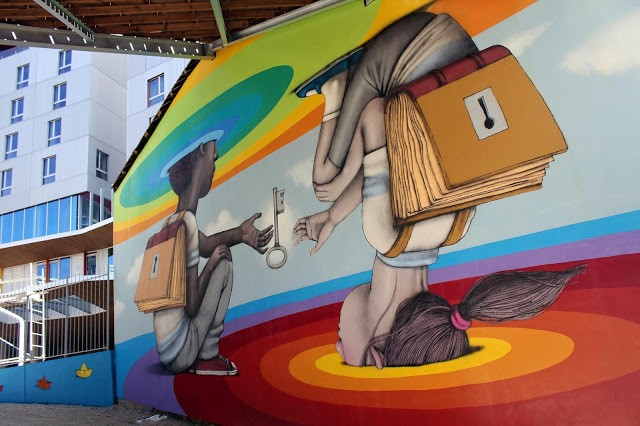 Seth Globepainter creates a new mural in Paris, France