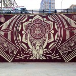 Shepard Fairey New Mural In New York City, USA