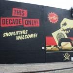 "Shepard Fairey ""Shoplifters Welcome"" New Mural In London, UK"