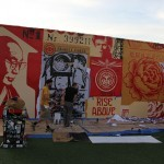 Shepard Fairey New Mural In Progress, Miami, USA