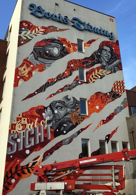 """Out Of Sight"", a new mural by Tristan Eaton in Boras, Sweden"