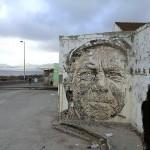 Vhils New Mural In Ribeira Grande, Portugal