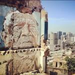 Vhils New Mural In Rio De Janeiro, Brazil