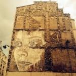 Vhils New Street Art Piece – Paris, France