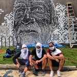 Vhils New Mural In Progress, San Juan, Puerto Rico