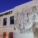 Vhils creates a series of new pieces with Lebasse Projects in Los Angeles, USA