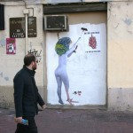 "VinZ ""Do Not Disturb I'm Wheatpasting"" New Street Piece In Valencia, Spain"