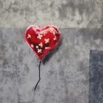 "Banksy ""Heart Balloon"" New Stencil For Better Out Than In – Brooklyn"