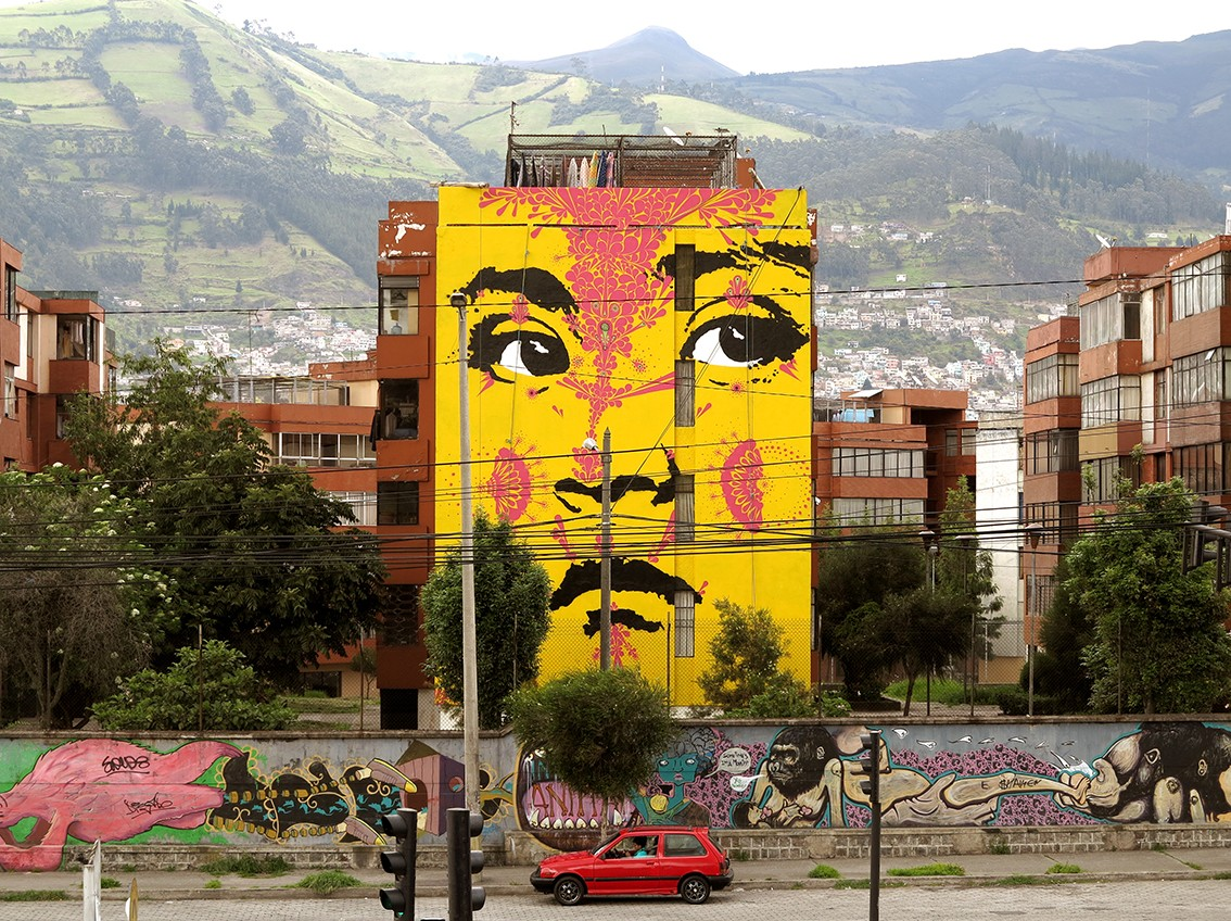 Wall Mural Photos Stinkfish In Quito Ecuador Streetartnews Streetartnews