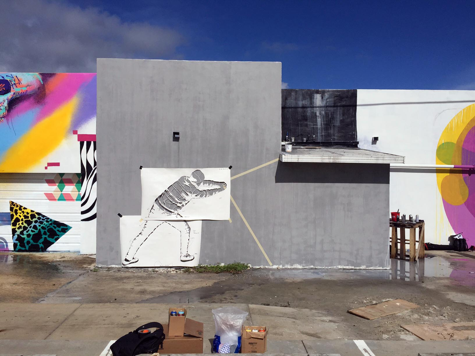 Behind The Curtain by Martin Whatson in Miami