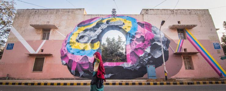 St+Art India: Never Crew in Lodhi Colony, New Delhi
