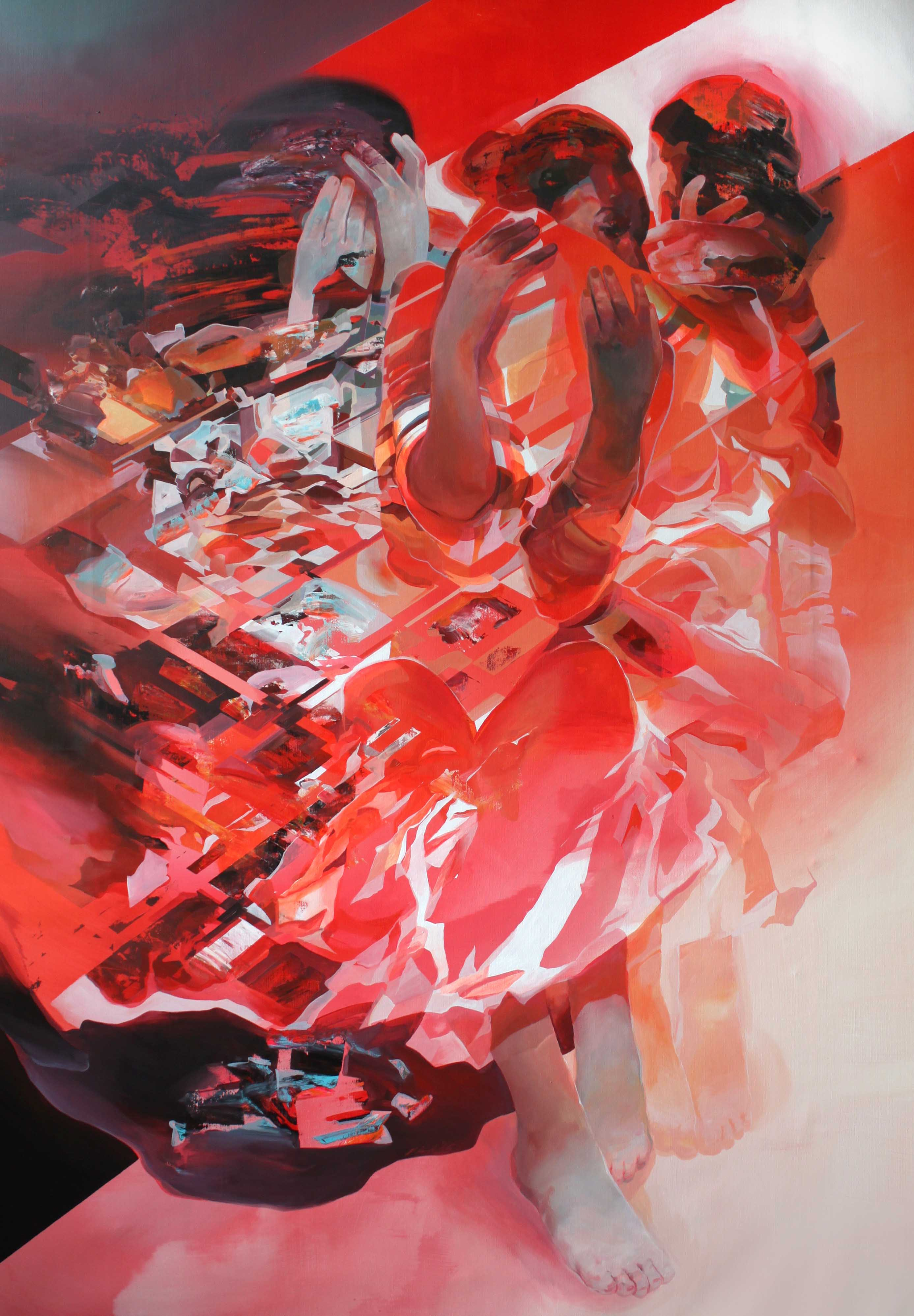 WK_Robert Proch_Red Dress_199x130cm_acrylic on canvas 2016_lr