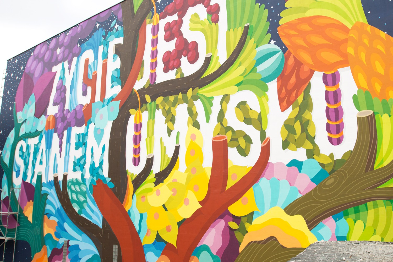 BOA MISTURA (Spain), 'Zycie jest stanem umysàu', Lodz Murals 2016 3