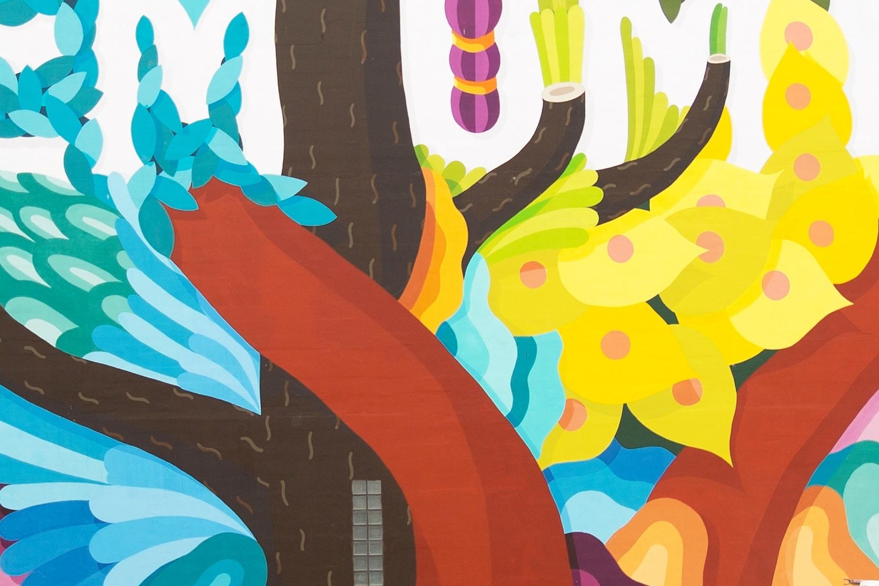 BOA MISTURA (Spain), Zycie jest stanem umysàu Lodz Murals 2016 detail 6