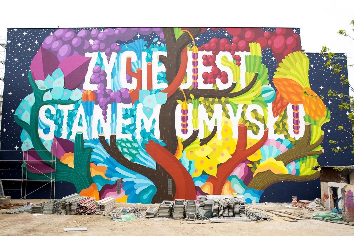 BOA MISTURA (Spain) Zycie jest stanem umyslu, Lodz Murals 2016 1