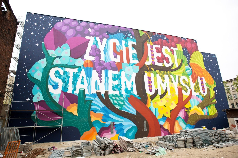 BOA MISTURA (Spain), Zycie jest stanem umyslu, Lodz Murals 2016 2