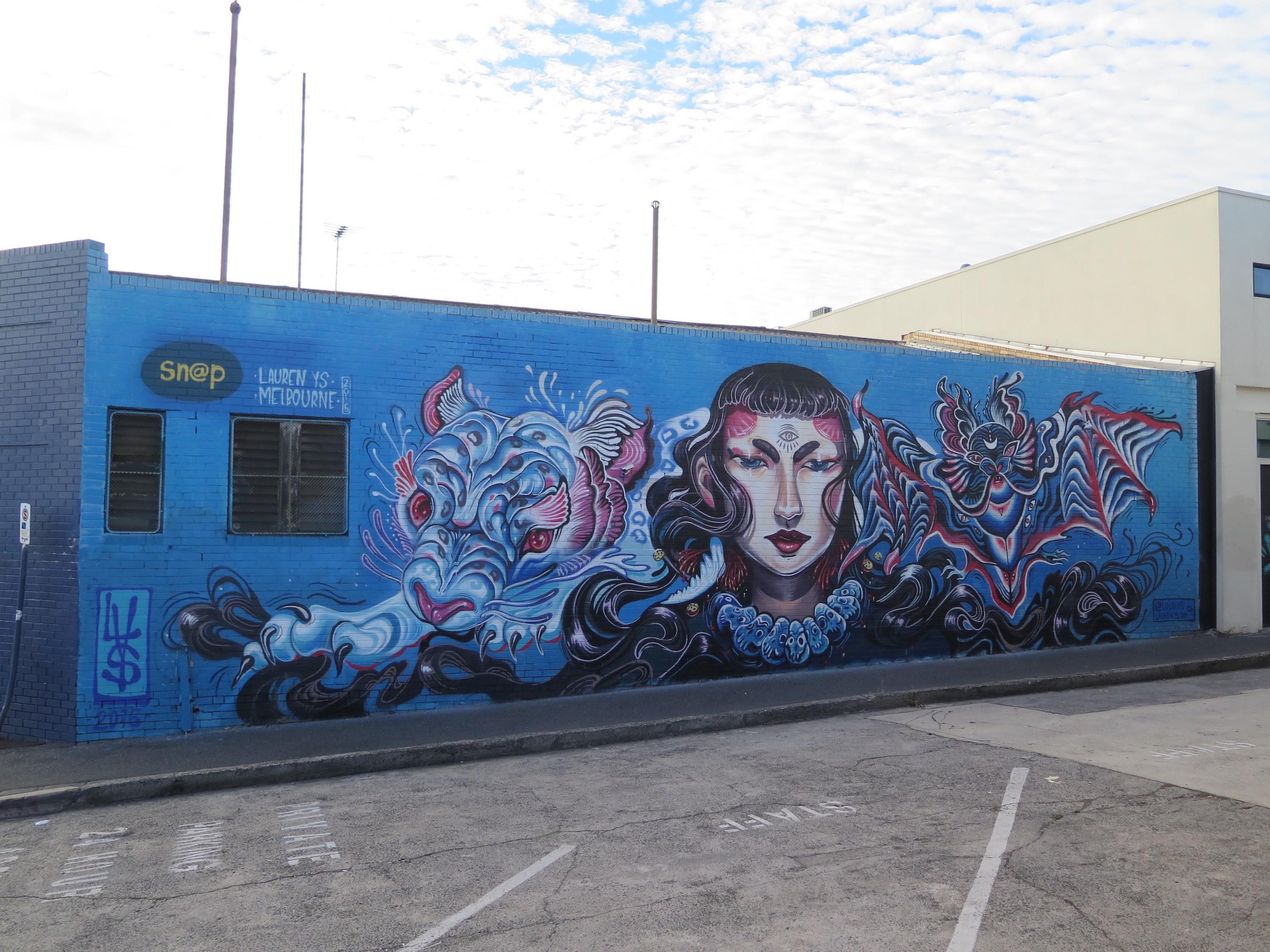 Lauren ys visits melbourne australia streetartnews for Australian mural