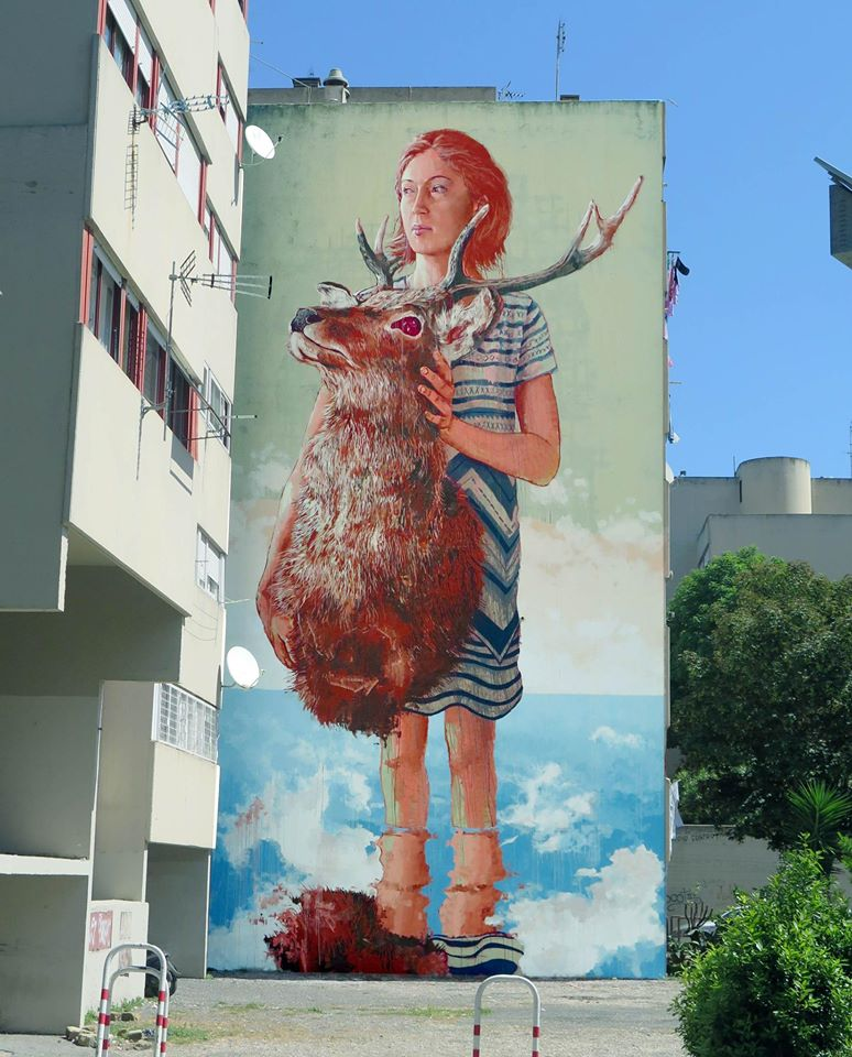 The roadkill by fintan magee in rome italy for Alabama wall mural