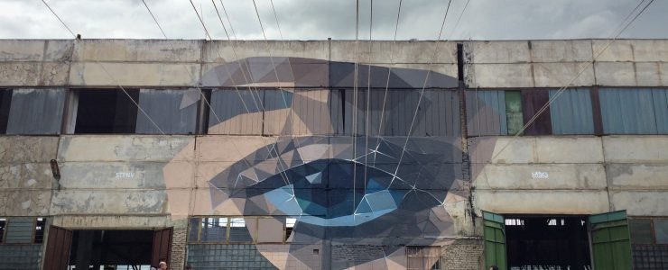 """Gaze"" an installation by STFNV in Tbilisi, Georgia"
