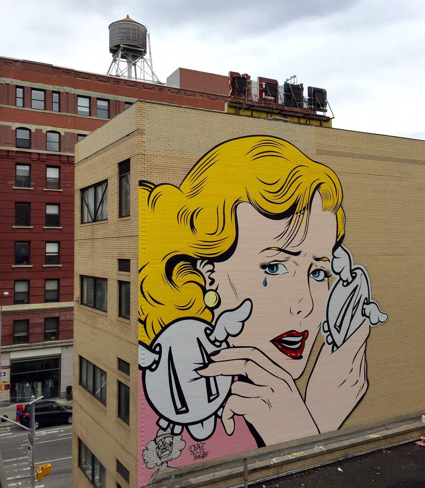 Double crossed by d face in new york city for Mural on broome street