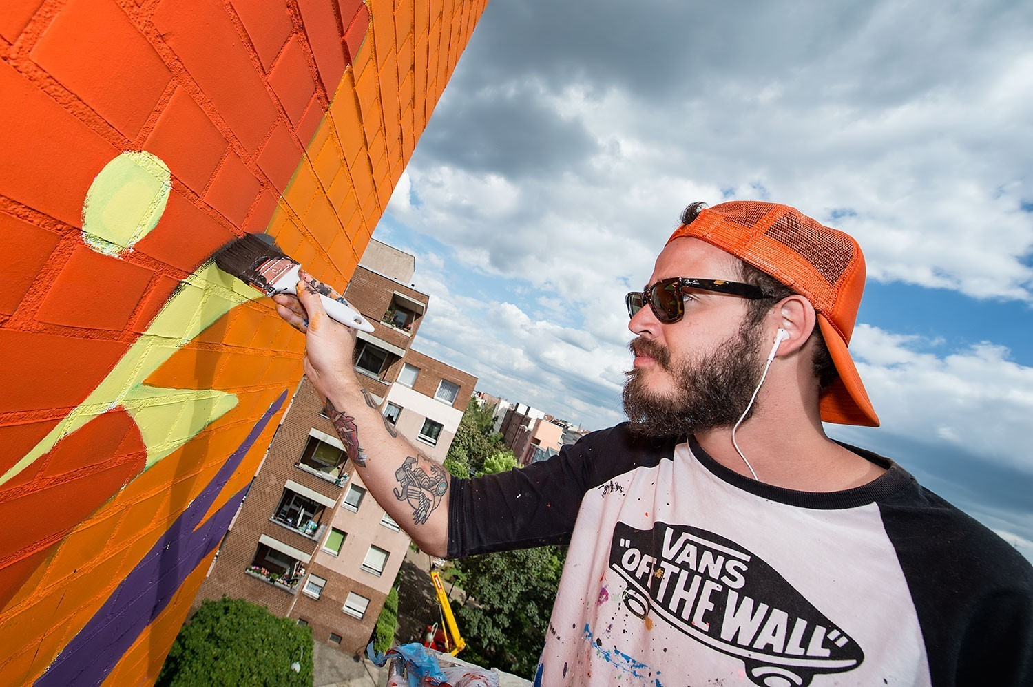"""Invited by URBAN NATION MUSEUM FOR URBAN CONTEMPORARY ART Director Yasha Young to bring summer flavors to Berlin, Project M/9 """"Colors"""" co-curators Charlotte Dutoit and Rom Levy of JUSTKIDS and StreetArtNews have selected 6 internationally acclaimed artists to create murals around the future museum building in Bülowstrasse 7, in Berlin-Schöneberg, from June 06 till June 12, 2016. #projectM #UrbanNation #MuseumofUrbanAndContemporaryArt #Berlin"""